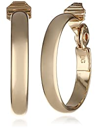 "Anne Klein""Classics"" Gold-Tone Wide Hoop Clip-On Earrings"