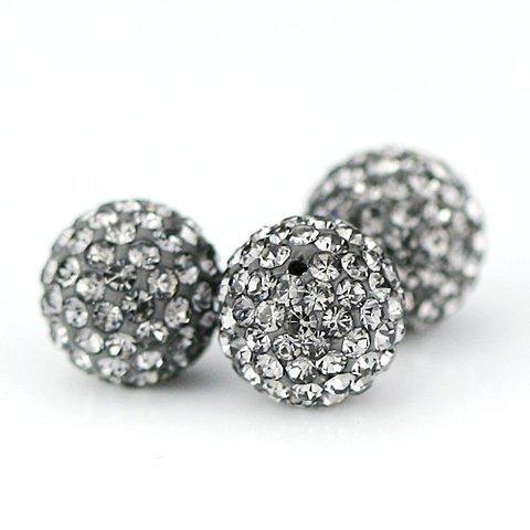 10 PSC 8mm Black Diamond Swarovski Crystal Loose Spacer Bead Pave Disco Ball Swarovski Crystal Disco Ball Bead