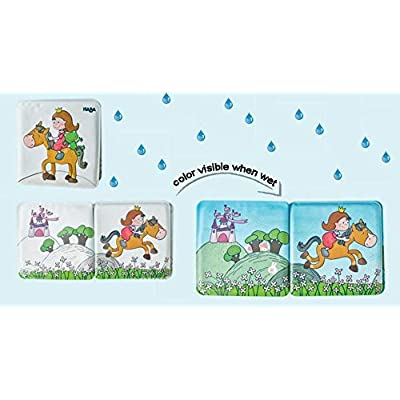 HABA Magic Bath Book Princess - Wet the Pages to Reveal Colorful Background - Great for Tub or Pool: Toys & Games