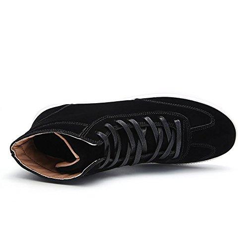 amp;baby Color A Moda Los Zapato De Con Sunny Cordones Negro Resistente Tacón Plano La Abrasión Zapatos Hombres Deporte Sólido dxwvqYHYMZ