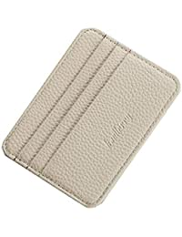 Credit Card Holder Leather Slim Pocket Card Case Wallet with ID Window