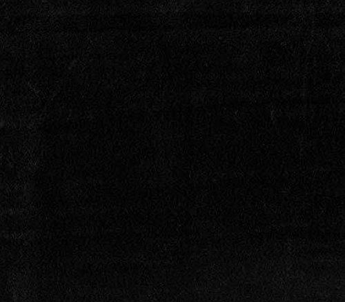 Velboa Fabric Faux Fake Solid Fur Black / 60