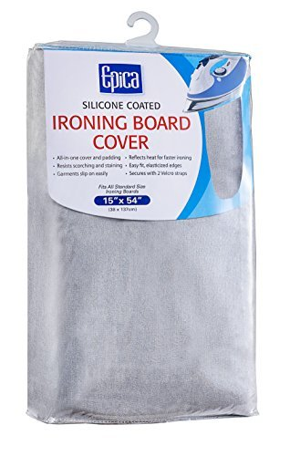 Epica Silicone Coated Ironing Board Cover- Resists Scorching and Staining - 15