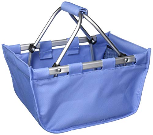 Wholesale Boutique Blue Hydrangea Mini Market Tote, with Durable Removable Aluminum Frame, One Size ()