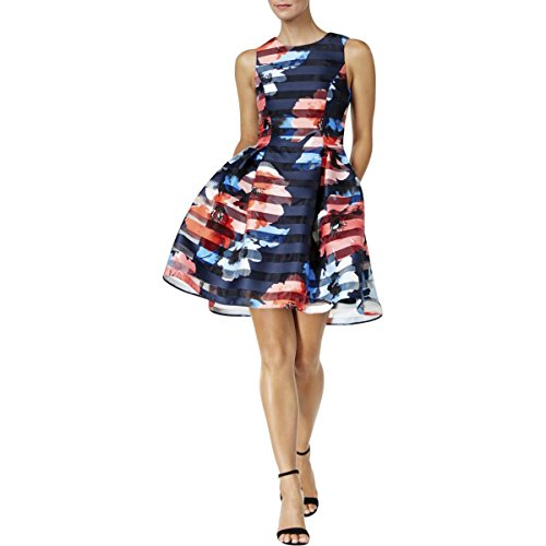 Dress Vince Pleated (Vince Camuto Womens Floral Print Pleated Casual Dress Multi 10)