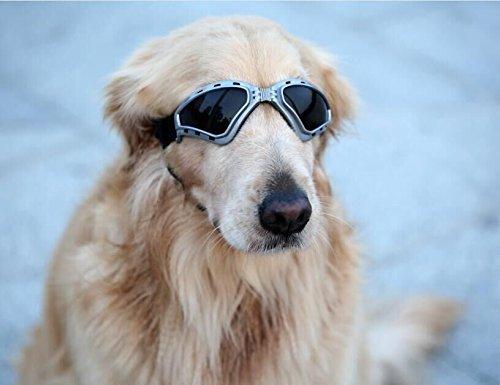 Kpmall Large Dog Goggles Sunglasses UV Protective Foldable Lenses Eye Wear Protection Fashion Eyewear - Eyewear Fun