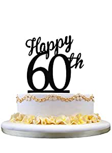 Acrylic Happy Birthday Cake Topper , 60th Birthday Cake ...