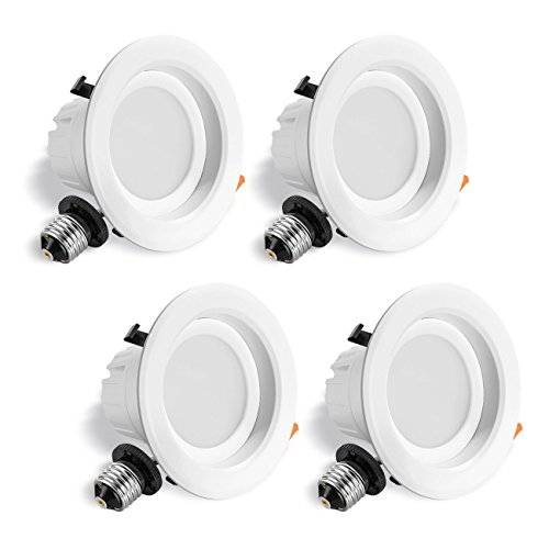 LVWIT LED 4'' Retrofit Dimmable Downlight 5000K Daylight 750 Lumens, Equivalent 65W, 5 Year Warranty(4 Pack) by LVWIT