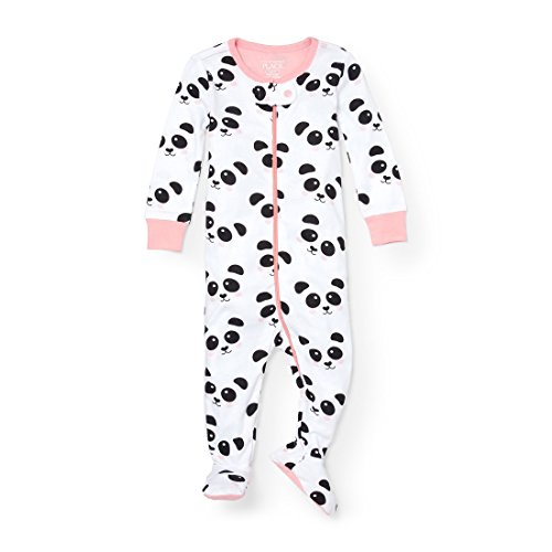 Sleeper Panda (The Children's Place Baby Little Boys' Panda Stretchie Pajamas, White 91119, 3T)