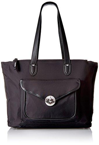 Fairfax Laptop Tote Black Shoulder Bag Bag, Black, One Size by Baggallini