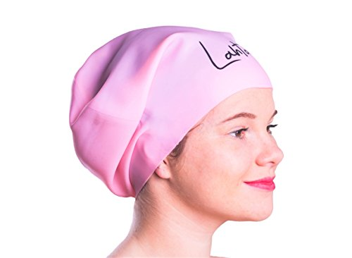 33cdd8a76c2 Lahtak Extra Large Swimming Cap - Stylish, Waterproof Silicone Swim Hat for  Long Hair Women