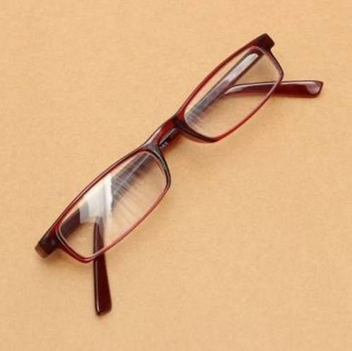 Unisex Fashion Red Folding Presbyopic Fatigue Relieve Eyeglasses Reading Glasses Strength 3.0 by - Piece Glasses Nose Pads For One
