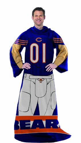 NFL Chicago Bears Full Body Player Adult Comfy Throw, 48
