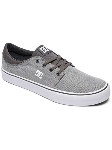 DC Shoes Trase TX Se M, Baskets Basses Homme, Gris, 43 EU Gwh Grey/White
