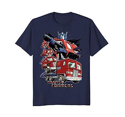 Transformers Optimus Prime Morphing Graphic T-Shirt