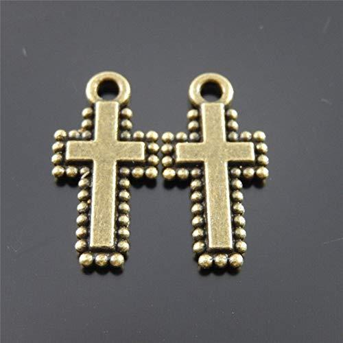 Mini Antiqued Cross Charm - 3