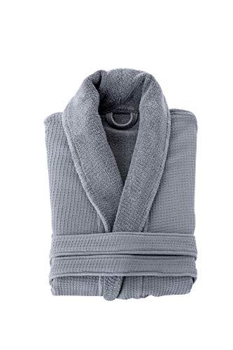 Grund Ocean Isle 100% Organic Turkish Cotton, Luxury Spa, Small to Medium, Slate Gray, Bath Robe ()