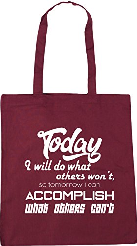 So Can Won't Beach I Today What 42cm Can't 10 Will Burgundy litres Others Accomplish I What Bag Do Tomorrow Shopping Tote Gym HippoWarehouse x38cm Others U0wqCvvx