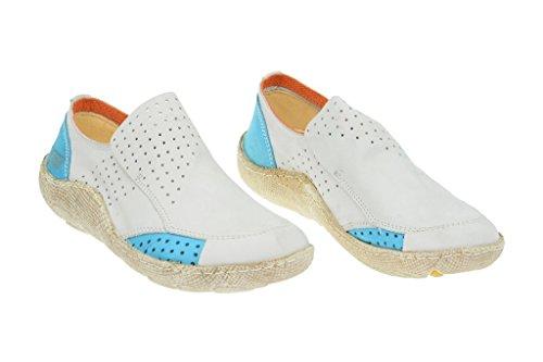 16233 baja E zapatilla hellblau Slipper weiß EjectEject Blanco Mujer blanco Good wqOxaXc1