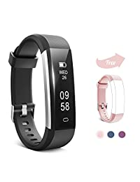 Fitness Tracker, Hamney Activity Tracker Waterproof with Sleep Monitor and Pedometer Step Counter Watch,Smart Bracelet Bluetooth Wireless Wristband Smartwatch for Kids Women Men