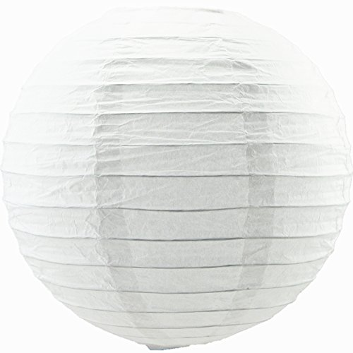 6 inches 10 Pieces white paper lanterns Lampshades Wedding Birthday Anniversary Party Decoration ()