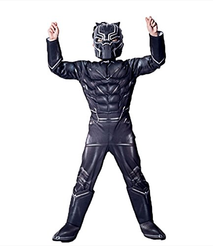 GradPlaza Avengers' Black Panther Cosplay Children's Halloween Role Play Costume Set -