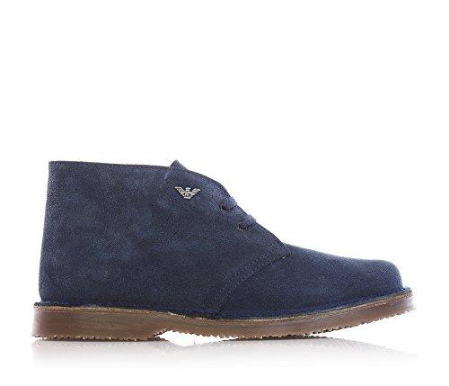 mit einfach B4526 Blaue elegant Schn眉rsenkel aus Stil Jungen vom ARMANI her Wildleder Schuhe und pgq6Cx6wX