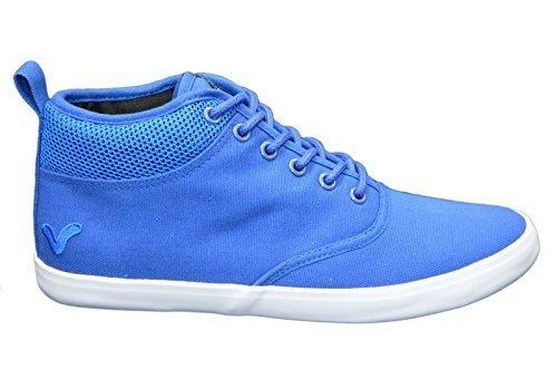 Voi Designer Jeans, Sneaker Uomo, Elegante Hi Top Scarpe da Ginnastica Pompe da Passeggio Sneakers Calzature, Blu (Royal