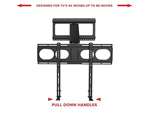 MantelMount MM340 Pull Down Fireplace TV Mount For 44''-80'' TVs Above Mantel by MantelMount (Image #3)