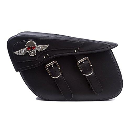 Motorcycle Synthetic Leather 2 Strap Saddlebag product image
