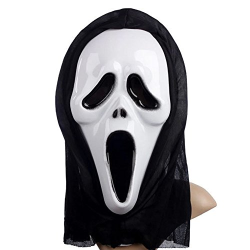Elegant libra Ghost Face Mask Scream Mask Classics Ghostface Mask for Halloween - Mtv Scream Costumes For Kids