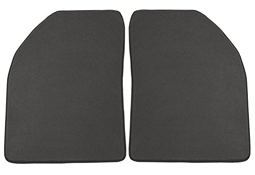 Coverking Front Custom Fit Floor Mats for Select 500 Series Models - 40 Oz Carpet (Gray)