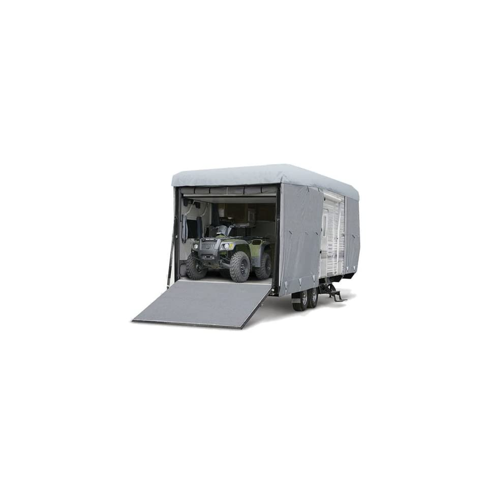 Budge Premier Toy Hauler RV Covers Fits Toy Hauler RVs up to 21 Long (Gray, Polyproplyene)