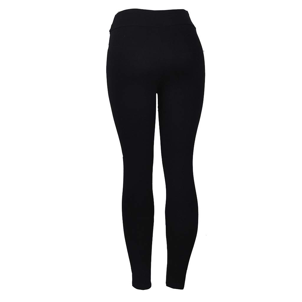 nikunLONG Womens High Waist Hip Bottom Pants Tummy Control Running Fitness Yoga Pants Nine-Minute Pants