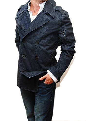 RALPH LAUREN Polo Black Label Mens Blue Jean Peacoat Jacket Cotton Italy XL (Black Ralph Label Jeans Lauren)