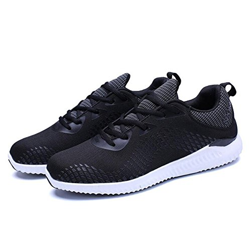 Men's Shoes Feifei Spring and Autumn Movement Breathable Mesh Casual Shoes 3 Colors (Color : 01, Size : EU43/UK9/CN44)