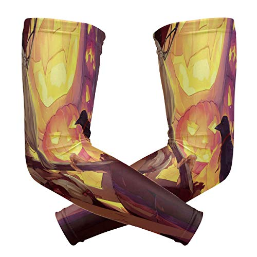 Arm Sleeves Inspiring Anime Halloween Wallpaper Mens Sun UV Protection Sleeves Arm Warmers Cool Long Set Covers
