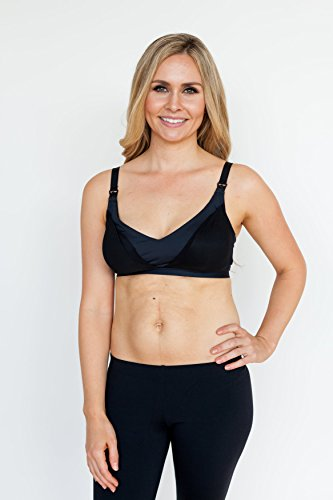 Simple Wishes Everyday All-in-One Nursing and Pumping Bra, Black, L-40/42 (D-DD)