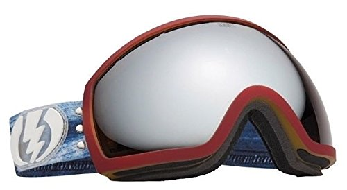 Eg2 Snowboard Electric Goggles (Trouble Andrew Collab Electric Eg2 Mirrored Wide Angle Mens Ski Snowboard Goggles)
