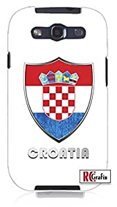Cool Painting Premium Croatia Flag Badge Direct UV Printed Unique Quality Soft Rubber Case for Samsung Galaxy S4 I9500 - White Case