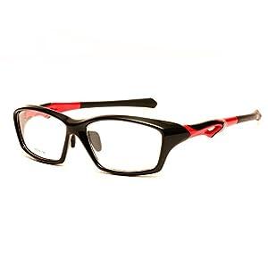 Langford Sports Eyeglasses Frame Men full frame Riding glasses Frame (Black, 56mm)