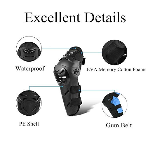 4 pcs Motorcycle Motocross Cycling Elbow Knee Pads Good Breathability Black Powersports Knee /& Shin Protection