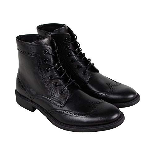 (Unlisted by Kenneth Cole Men's Blind-Sided Oxford Boot, Black Burnished, 11.5 M US)