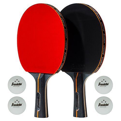 Franklin Sports Elite Pro Carbon Core Paddle-2 Player Set One Size by Franklin Sports