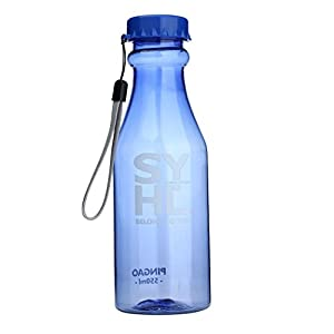 Sinwo 550ML ! Water Cup Outdoor Sports Travel Water Bottle Portable Leak-proof Camping (Blue)