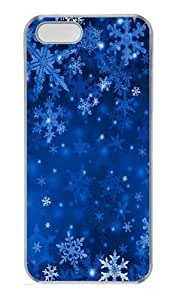 iPhone 5S Case, Blue Snowflakes PC Hard Plastic Case for iPhone 5/5S Transparent by Maris's Diary