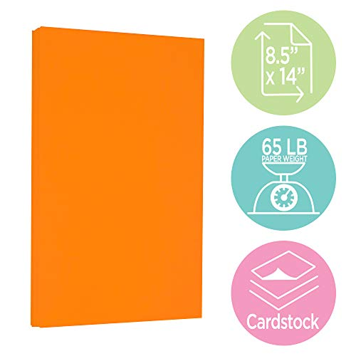 JAM PAPER Legal 65lb Cardstock - 8.5 x 14 Coverstock - Orange Recycled - 250 Sheets/Pack by JAM Paper (Image #2)