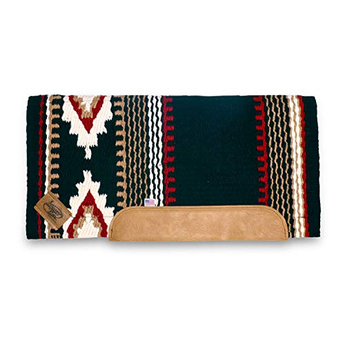 Impact Gel Cowtown Black and Red Woven Straight Cut with Fleece Bottom (Red Saddle Pad)