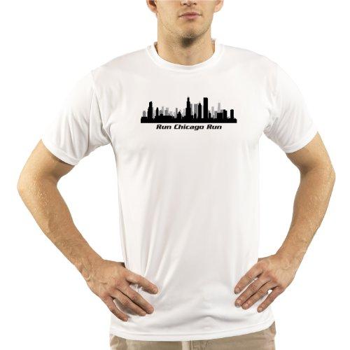 Split Time Men's Run Chicago UPF Short Sleeve Running T-Shirt Large - Triathlon Clothing Chicago