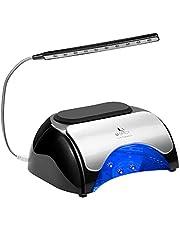 USpicy Lampe UV LED et CCFL 48W Lampe UV Ongles Gel, Sèche Ongles avec Port USB, Minuterie Automatique de 30s/60s/120s, Pour Vernis à Base de Gel, Gel LED et Vernis LED, Vernis UV, etc.-Noir Classique